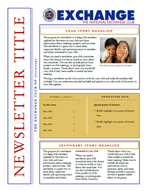 ms publisher newsletter templates